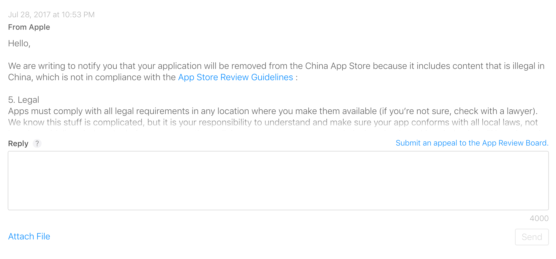 VyprVPN was blocked in the Apple App Store along with other VPN apps.