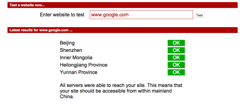 Google Unblocked in China