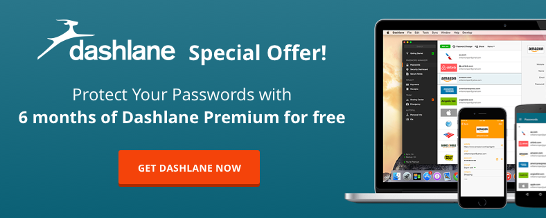 Dashlane protect passwords offer