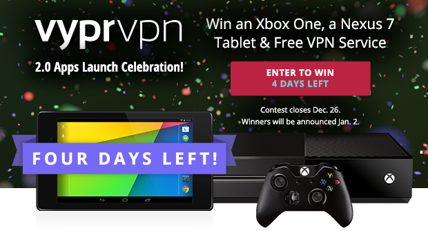 VyprVPN Giveaway 4 Days Left